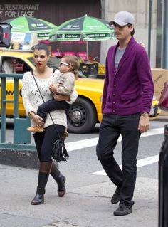 Kourtney Kardashian and Scott Disick take baby Mason to the park in NYC.