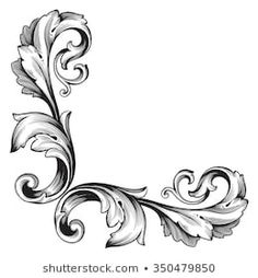 Find Vintage Baroque Frame Scroll Ornament Engraving stock images in HD and millions of other royalty-free stock photos, illustrations and vectors in the Shutterstock collection. Tattoo Oma, Dr Tattoo, Baroque Frame, Motif Baroque, Baroque Pattern, Retro Pattern, Pattern Art, Filagree Tattoo, Scroll Tattoos