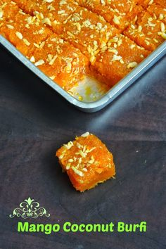 Priya's Versatile Recipes: Mango Coconut Burfi