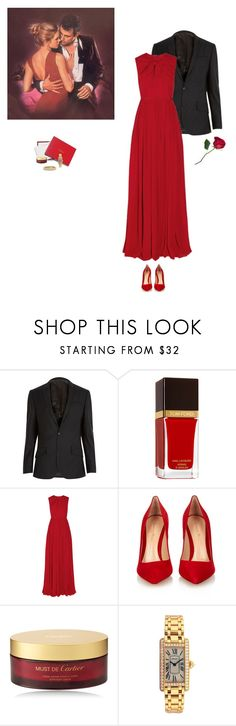"""Cristiano"" by jesse1987 ❤ liked on Polyvore featuring River Island, Tom Ford, Giambattista Valli, Gianvito Rossi, Forum, Cartier and David Yurman"