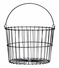 One Kings Lane - VMF - Decorative Accessories - Large Wire Egg Basket Wire Egg Basket, Metal Baskets, Storage Baskets, Wire Storage, Towel Storage, Find Furniture, Home Decor Furniture, Decorative Accessories, Home Accessories