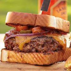 Texas Burgers Recipe on Yummly. Burger And Fries, Beef Burgers, Good Burger, Brisket Burger, Veggie Burgers, Grilling Recipes, Gourmet Recipes, Cooking Recipes, Barbecue Recipes