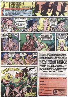 Crunchy Dice - An RPG Blog: TSR Dungeons and Dragons comic book advertisements - Page 6 of 8