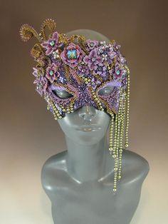 Melissa Grakowsky Shippee, beaded mask.