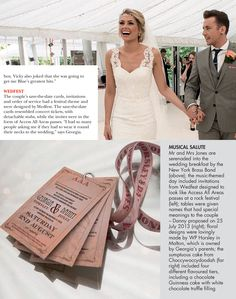 Danny Jones And Georgia Horsley Wedding Stationery