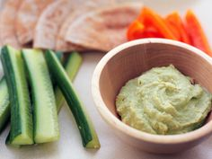 chickpea-free hummus- so easy  Chickpea-Free Hummus    Ingredients  2 organic zucchinis, chopped  ¾ c. raw tahini  ½ c. fresh lemon juice  ¼ c. olive oil  3-4 garlic cloves, chopped  ½ tbsp. ground cumin  High-quality sea salt, to taste    1. Blend all ingredients until smooth.    2. Dip celery, red peppers, cucumbers and enjoy.