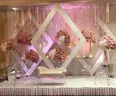 Mesmerize your guests with the charm of these engagement stage decorations ideas. Discover about the latest Engagement Stage Decoration Ideas with this post. Engagement Stage Decoration, Wedding Backdrop Design, Desi Wedding Decor, Wedding Stage Design, Wedding Hall Decorations, Wedding Reception Backdrop, Backdrop Decorations, Church Decorations, Wedding Mandap