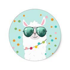 Shop Llama Rama Sticker Cupcake Topper Fiesta Alpaca created by Anietillustration. Alpacas, Llama Clipart, Cartoon Llama, Scrapbook Bebe, Llama Face, Cute Alpaca, Doodles, Lesage, Thank You Stickers