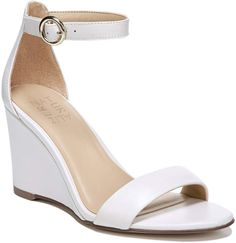Wedding Wedges That are Both Stylish and Comfortable Ankle Strap Wedges, Ankle Straps, Ankle Strap Sandals, Wedge Sandals, Wedge Shoes, Leather Sandals, Bridal Wedges, Wedding Wedges, Wedge Wedding Shoes