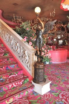 Madonna Inn in San Luis Obispo, California.  This is a bizarre place, and very popular.  All the rooms have a theme.  Like, there's a cave room.
