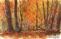 "Everyday Artist: Step-by-Step Watercolor Painting: ""Autumn Glow"""