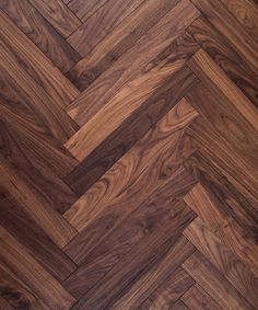 parquet flooring Opting for American black walnut herringbone parquet wood flooring fosters an air of both sophistication and comfort. The warm shades within the wood lend a certain cosiness within a stylishly assembled home setting, and offer a Walnut Wood Texture, Walnut Wood Floors, Wood Floor Texture, Wood Parquet, Parquet Flooring, Hardwood Floors, Parquet Texture, Flooring Ideas, Wood Floor Pattern
