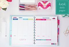 2016 Weekly Planner Printable Pages INSTANT by iheartorganizing