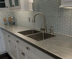 Culured marble kitchen countertop