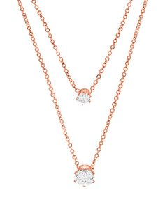 Another great find on #zulily! Swarovski® Crystal & Rose Gold Layered Pendant Necklace #zulilyfinds