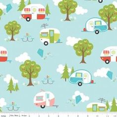 Collection:Glamper-licious Designer:Samantha Walker Manufacturer:Riley Blake Designs Manufacturer Item Number:C6310-AQUA Fabric Content: 100% cotton, 44 inc