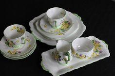Vintage Royal Albert Primulette tea set by PeggysTrove on Etsy