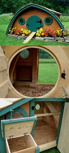 Chicken Coop Hobbit Hole Idea from the Shire | DIY Woodworking Projects for your Homestead. #WoodworkProjects