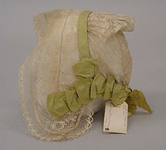 Cap Met Museum Date: 1843 Culture: American Medium: silk Dimensions: [no dimensions available] Credit Line: Gift of Mrs. Albert S. Morrow, 1937 Acce...