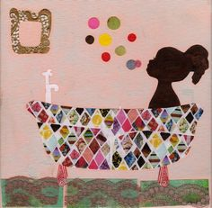 Bathtime collage- would be cute made into a boy version with 2 boys in the tub!