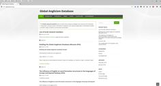 Sitio web del grupo de estudiosos The Global Anglicism Database (GLAD).