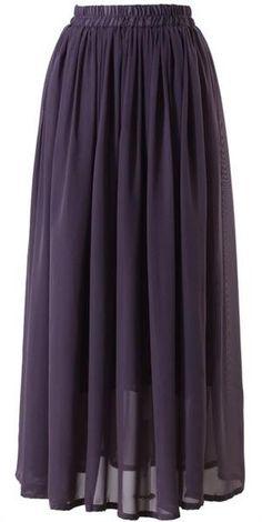 Conservative Modest full length maxi skirt lavandar purple   Mode-sty tznius fashion style hijab muslim islamic mormon lds jewish christian no slit