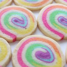 Swirl Cookies These colorful spiral sugar cookies will hypnotize you with deliciousness.These colorful spiral sugar cookies will hypnotize you with deliciousness. Spiral Sugar Cookies, Cookies Light, Pinwheel Cookies, Soft Sugar Cookies, Flower Cookies, Delicious Desserts, Dessert Recipes, Easy Sugar Cookie Recipe, Dinner Recipes
