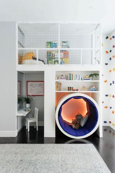This Colorful Kids' Room Has a Climbing Rock Wall