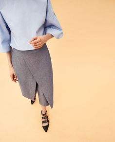 CHAMBRAY TROUSERS.
