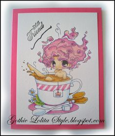 Gothic Lolita Style: Challenge Pretty in Pink - Sweet Stampin' Challeng...