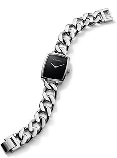 Calvin Klein K5D2M121 Black Dial Silver Chain Strap Ladies Watch | Your #1 Source for Watches and Accessories