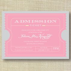 Movie Ticket Vintage Bachelorette Party by HermiasWishes on Etsy