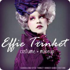Effie Trinket Costume and Makeup