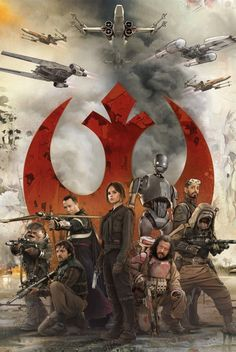 Rogue One A Star wars Story Hi-Res Movie Poster Squad TX Character Poster