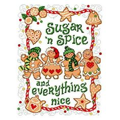 cross stitch Gingerbread pattern #cross stitching #gingerbread #Christmas Designed by: Ursula Michael ©Ursula Michael Designs Price: $9.00 USD (online download) - we love Ursula's fun design for The World of Cross Stitching and this downloadable one from her site is just as much fun!