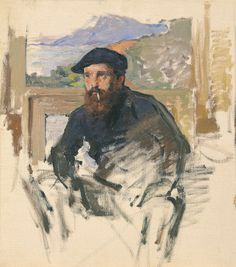 Self Portrait in his Atelier, c.1884 Claude Monet