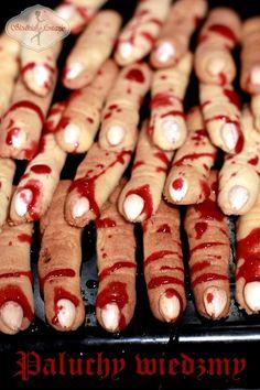 Ciasteczka Paluchy Wiedźmy w sam raz na imprezę Halloween'ową. ;) Hot Dogs, Sausage, Food And Drink, Menu, Ethnic Recipes, Menu Board Design, Sausages, Chinese Sausage