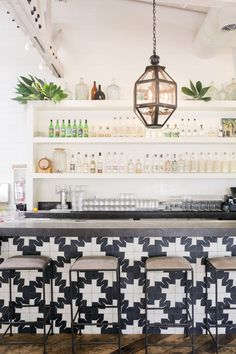 The decor of Gracias Madre restaurant in West Hollywood mirrors its organic, vegan fare: inspired by Mexico, but an entirely Californian affair. Interior d