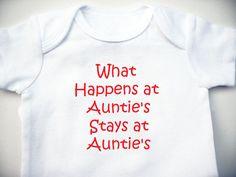 The Vegas Auntie Onesie - Baby Shower Gift - Baby Clothing - Baby Bodysuit. $6.00, via Etsy.