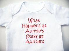 The Vegas Auntie Onesie - Baby Shower Gift - Baby Clothing - Baby Bodysuit. $6.00, via Etsy.