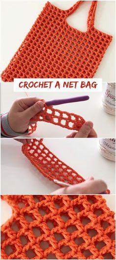 To Crochet A Net Bag Free Tutorial - Crochetopedia Source by To Crochet A Net Bag Free Tutorial - Crochetopedia Source by Crochet lesson series Crochet tote PATTERN crochet tote bag PATTERN beach bag Crochet Diy, Crochet Simple, Bag Crochet, Crochet Market Bag, Crochet Handbags, Crochet Purses, Learn To Crochet, Crochet Crafts, Crochet Stitches