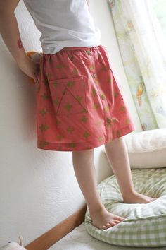handcrafted hopscotch skirt // probably actually