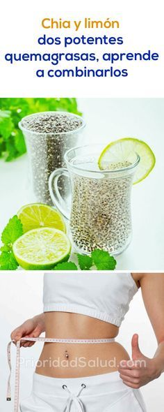 Semillas de chía y limón 2 potentes quema grasa abdominal, aprende cómo usarlos para quemar la grasa acumulada sin ejercicio.