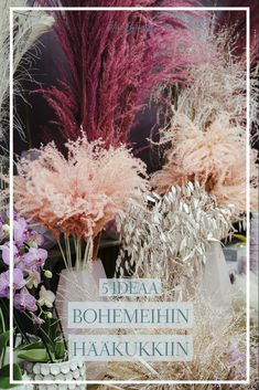 I'm a wedding photographer, not a florist. But I love every kind of plants and flowers. So I want to share some ideas for your inspiration. Boho Wedding Flowers, Some Ideas, Queen Victoria, Lush, Helmet, Wedding Inspiration, Rustic Weddings, Table Decorations, Plants