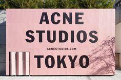 Acne Studios opens up in Tokyo Acne Studios, Environmental Graphics, Environmental Design, Pop Up, Hoarding Design, Best Natural Skin Care, Wayfinding Signage, Retail Design, Fashion Branding