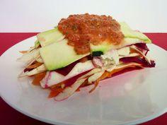 raw zucchini lasagna   Vanilla & Spice: Raw Zucchini Lasagna