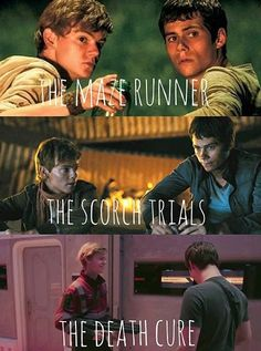 "Thomas Brodie-Sangster as Newt and Dylan O'Brien as Thomas in ""The Maze Runner"" series"