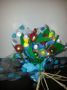 Boquet de ovos de chocolate