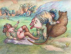 기괴하고 엽기적이고 불편하기 짝이 없는 롤랑 또뽀르(Roland Topor)의 그림 : 네이버 블로그 Dark Art Drawings, Pastel, Photo And Video, Illustration, 1984, Painting, Instagram, Radiation Exposure, Ink