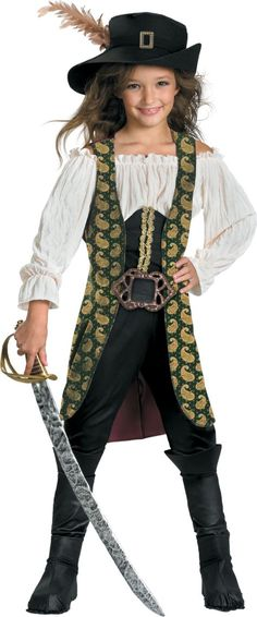 Girls Pirates of the Caribbean Angelica Costume - Party City